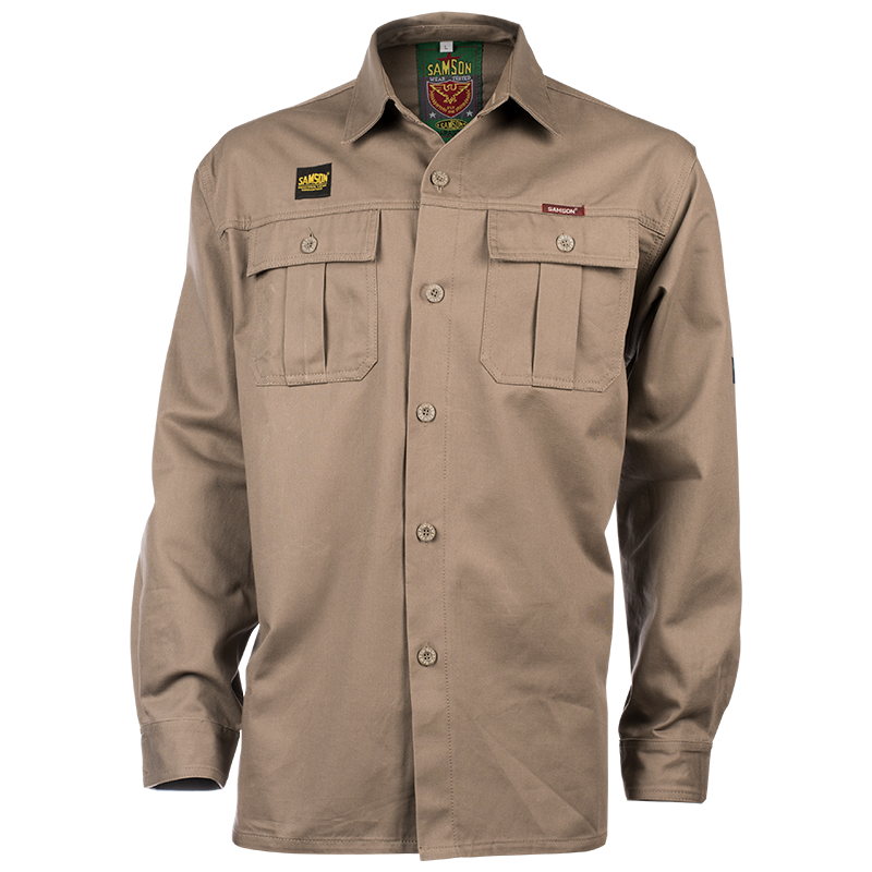 Samson - Shirts - Long Sleeve Cotton Blend Work Shirt