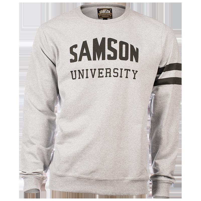 Samson - Knitwear - LONG SLEEVE PRINTED LOGO CREW